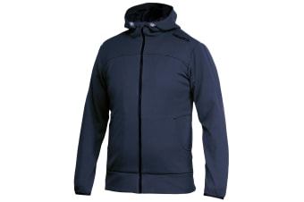 Craft Mens Leisure Athletic Full Zip Hoodie Jacket (Navy)