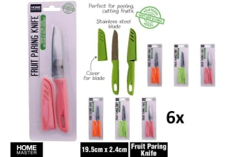 6 x ClassicTomato Fruit Paring Knife Utility Knives COLOUR Round Cover