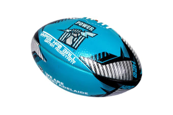 Summit Global AFL Hyper H20 Port Adelaide Football/Rugby Sports Training Ball BL