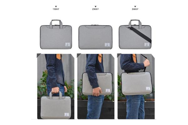 """Colour Pack Casual Series 15.6"""" Notebook Laptop Multi-style Carry Bag (Grey) with extra small"""