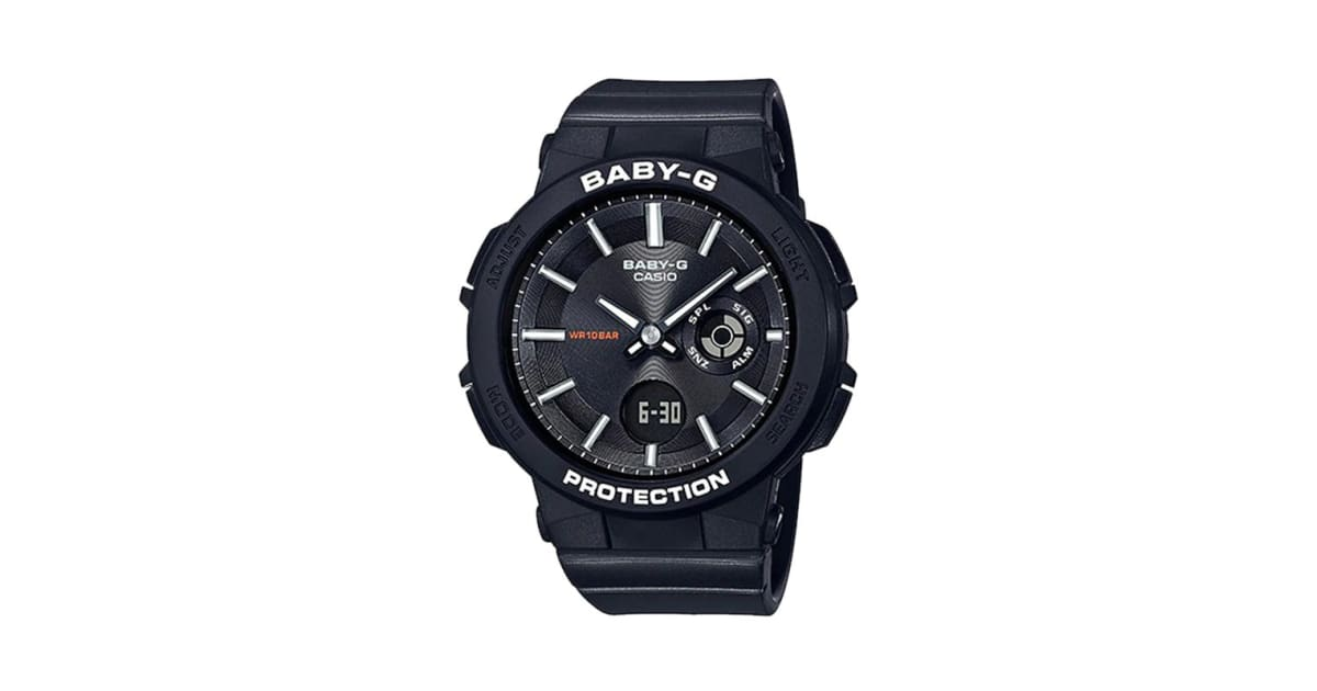 Casio Baby G Analog Digital Watch With Resin Band Black Ba255 1a Watches
