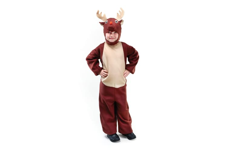 Bristol Novelty Childrens/Kids Reindeer Costume (Brown) (L)
