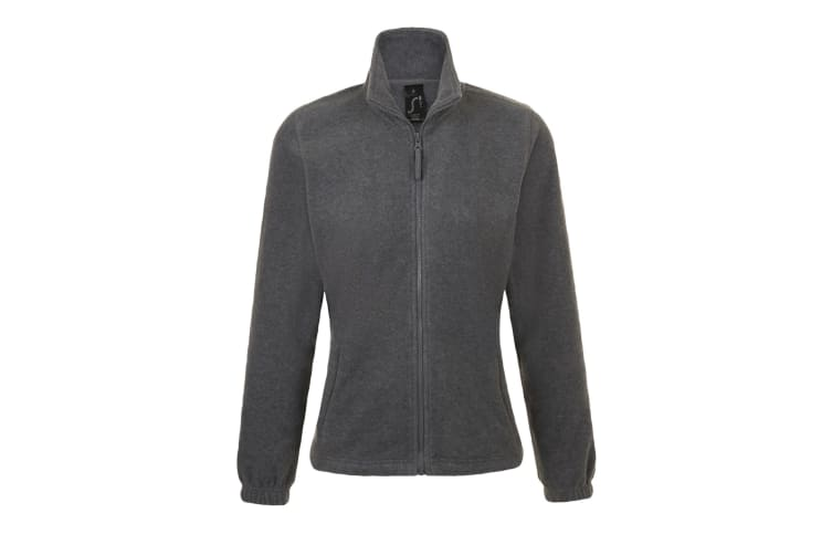 SOLS Womens/Ladies North Full Zip Fleece Jacket (Grey Marl) (M)