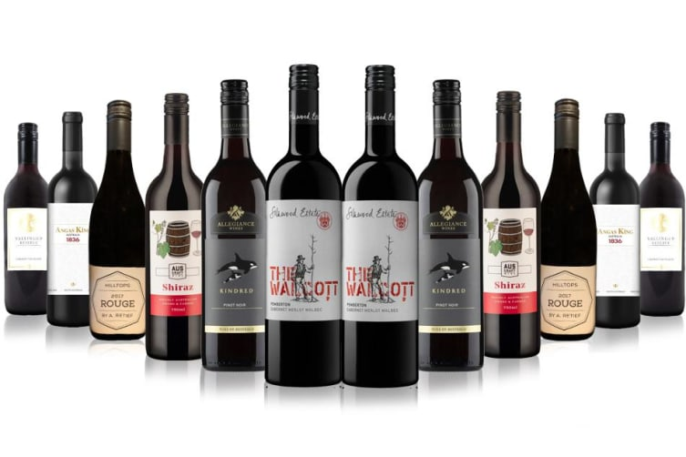 Pure Class Premium Red Wines feat. wines from 4.5 Star rated winery - 12 Bottles