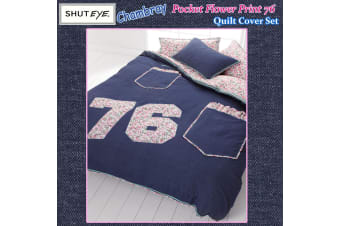 Chambray Pocket 76 Quilt Cover Set by Shuteye