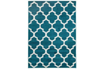 Indoor Outdoor Morocco Rug Peacock Blue