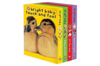 Bright Baby Touch & Feel Boxed Set - On the Farm, Baby Animals, at the Zoo and Perfect Pets