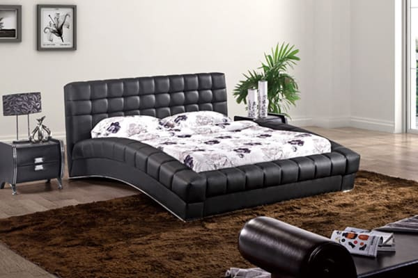 black queen bed frame elegance leather padded bed frame black kogan 29017
