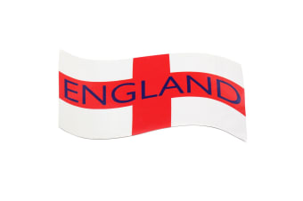 England St George Flag Magnetic Shield Design Car Decal (White/Red)