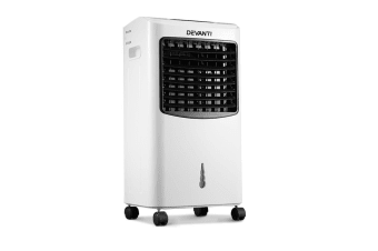 Devanti Portable Air Cooler and Humidifier Conditioner - Black and White