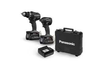 Panasonic EYC215LS2F57 Drill & Impact Driver 14.4V Lithium Ion 4.2Ah - Dual Voltage Combo Kit