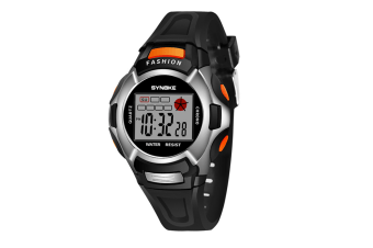 Children'S Watch Nightlight Waterproof Sports Electronic Watch Black