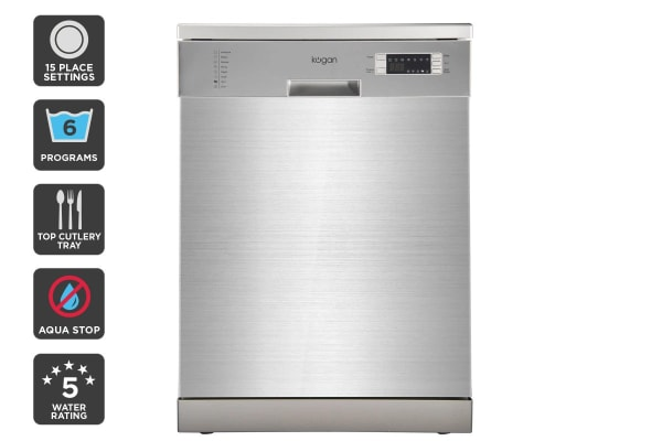 Kogan Series 9 Freestanding Dishwasher (Stainless Steel) with Top Cutlery Tray