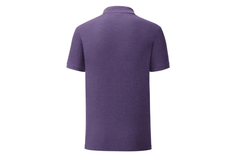 Fruit Of The Loom Mens Iconic Pique Polo Shirt (Heather Purple) (S)