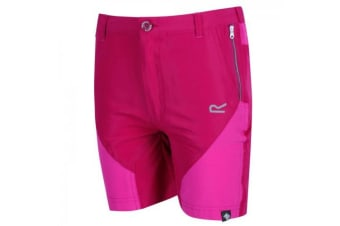 Regatta Childrens/Kids Sorcer Mountain Shorts (Dark Cerise/Cabaret) (11-12 Years)