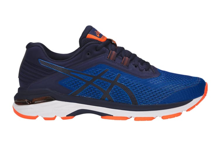 ASICS Men's GT-2000 6 Running Shoe (Imperial/Indigo Blue/Shocking Orange, Size 11)
