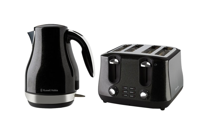 Russell Hobbs Siena Breakfast Pack with Toaster & Kettle (RHK42BLK RHT44BLK)