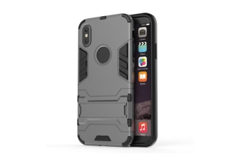 Full-Armoured Protective Case Of Steelman Stealth Bracket Phone Case For Iphone Grey Iphone Xs