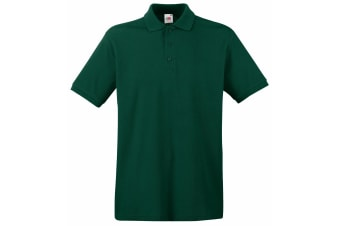Fruit Of The Loom Premium Mens Short Sleeve Polo Shirt (Forest Green)