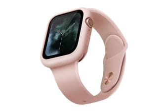 Uniq Lino Hybrid Silicone 44mm Case/Protect Cover for Apple Watch Series 4 Pink