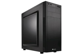 Corsair Carbide 100R Black ATX MidTower Gaming Case Acrylic Window with CPU Cooler Supports Upto