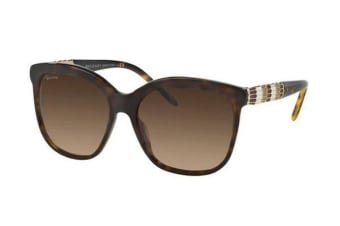 Bvlgari BV8155 - Dark Havana (Brown Shaded lens) Womens Sunglasses