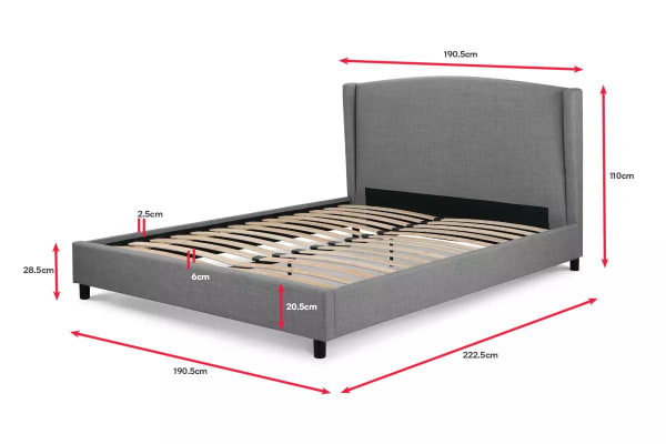 Shangri-La Bed Frame - Levanzo Collection (Grey, King)