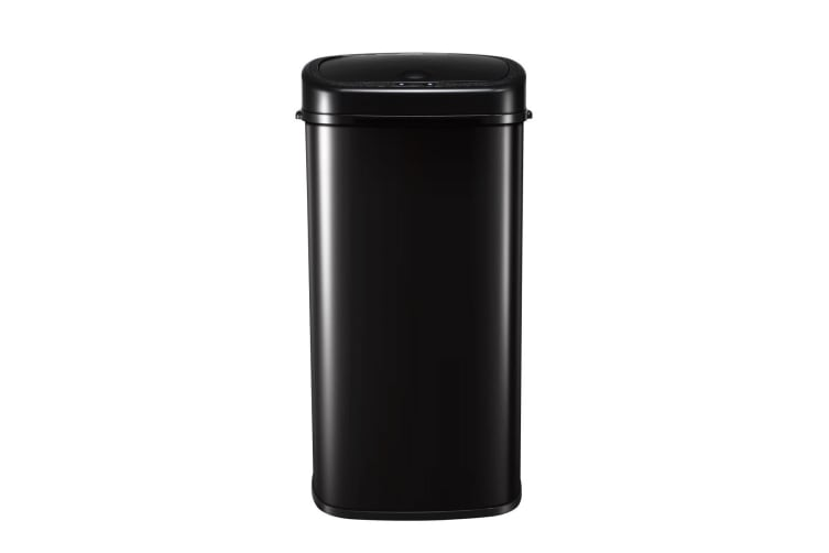 68L Intelligent Motion Sensor Touchless & Stainless Trash Bin Waste Can - Black