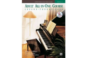Alfred's Basic Adult All-In-One Course, Bk 3 - Lesson * Theory * Solo, Comb Bound Book & CD