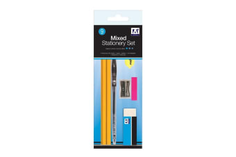 A Star Mixed Stationery Set (9 Pieces) (Multicoloured)