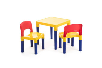 Delsun Kids Table & 2 Chairs Plastic Set