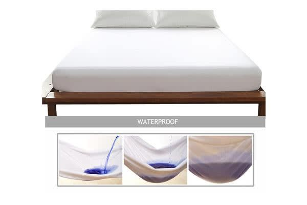 Mattress Protector Waterproof Fully Fitted Bamboo Fibre Cover SINGLE