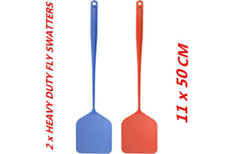 2 x Fly Swatter Bug Home Office Pest Control Mosquito Insect Killer Heavy Duty