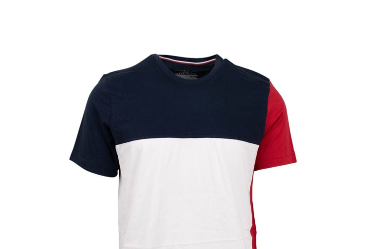 Tommy Hilfiger Men's Flag T-Shirt (Dark Navy, Size S)