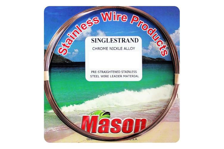 30ft Coil of 325lb Mason Single Strand Stainless Steel Wire Fishing Leader