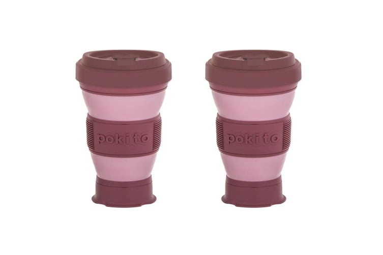 2x Pokito 475ml Hot Cold Pop Up Cup Collapsible Reusable Travel Eco-Friendly PK
