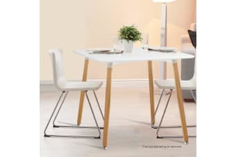 Artiss 80x80CM Replica Eames DSW Cafe Retro Dining Table Kitchen Wooden White