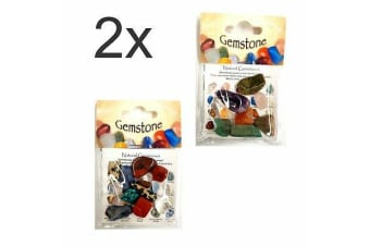 2 pack of assorted Natural Gemstones Crystal Mixed Gemstone Collection