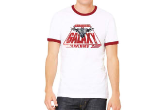 Guardians Of The Galaxy 2 Unisex Adults Milano And Text T-Shirt (White) (S)