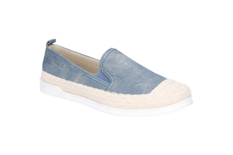 Fleet & Foster Womens/Ladies Paradise Nautical Espadrille Loafer (Denim) (4 UK)