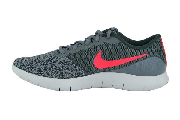 Nike Women's Flex Contact Running Shoes (Cool Grey/Solar Red/Anthracite, Size 6.5)
