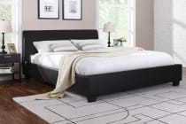 Ovela PVC Leather Bed Frame - Grandioso Collection (Black)