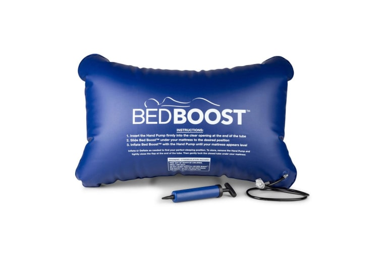 2PK Bed Boost Adjustable/Inflatable Mattress Sleep/Comfort Support/Cushion Blue