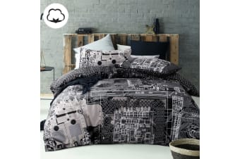 100% Cotton Computer Power Silver Quilt Cover Set by Accessorize