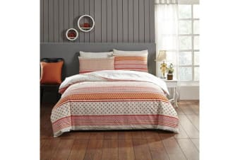 Park Avenue 250 Thread count 100 % Cotton Reversible Quilt Cover Set Queen Bed -  Aviana