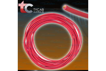 6 B&S SINGLE CORE CABLE DUAL BATTERY SYSTEM 12V 30 METRES RED COVER 6BS BS NEW