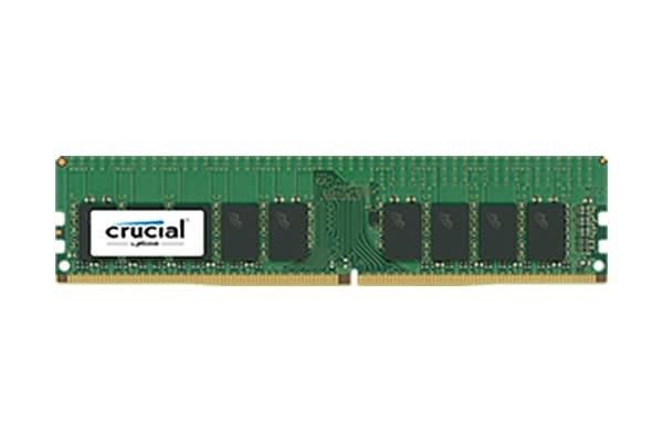 Crucial 16GB DDR4  2400 MT/s (PC4-19200) CL17 DR x8 ECC Unbuffered DIMM 288pin