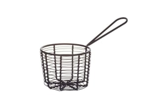 Academy Orwell Round Serving Basket Black