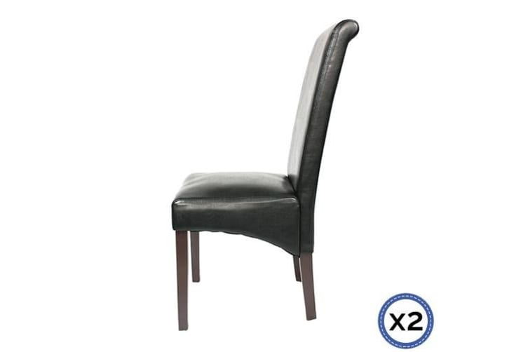 2 X Swiss Dining Chair-Black