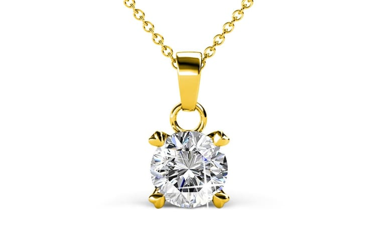 Solitaire Pendant Necklace Embellished with Swarovski crystals